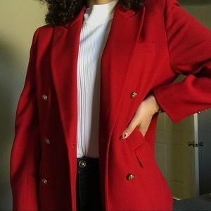 VINTAGE ✨ ralph lauren red blazer
